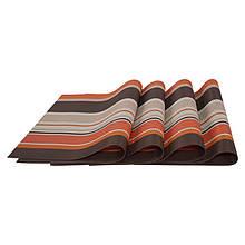 Комплект сервировочных ковриков Supretto 4 шт Оранжевый (5065-0002)