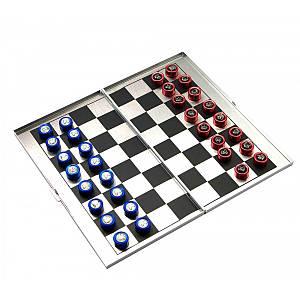 Шахматы магнитные дорожные алюминий (16х9х1 см) ( 25012)