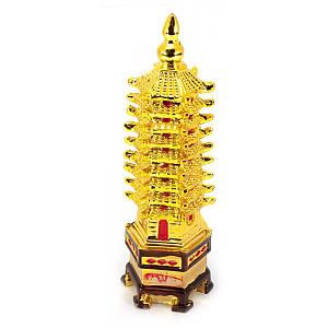 """Пагода каменная крошка """"золото"""" (19,5х6,5х5,5 см) ( 20219)"""