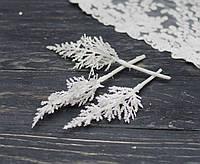 Ветки туи белой в блестках 3 шт, фото 1