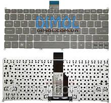 Оригінальна клавіатура для ноутбука Acer Aspire S3, S5, One 756, TravelMate B1 Series Gray, ru