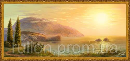 Картина YS-Art CA025-63 33x70 (Пейзаж, золостистая рамка)