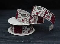 Лента декоративная ткань\проволочный край 90см , фото 1