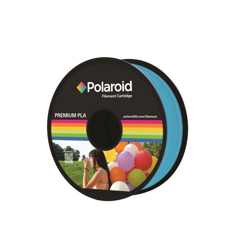 Катушка с нитью 1.75мм/1кг PLA Polaroid для 3D принтера, голубой
