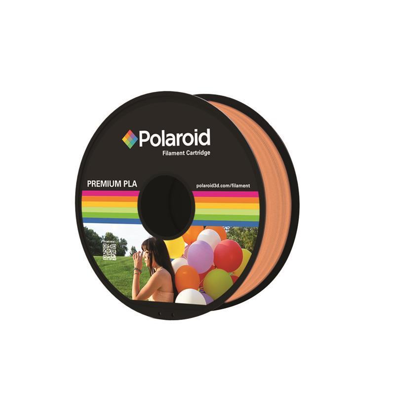 Котушка з ниткою 1.75 мм/1кг PLA Polaroid для 3D принтера, помаранчевий