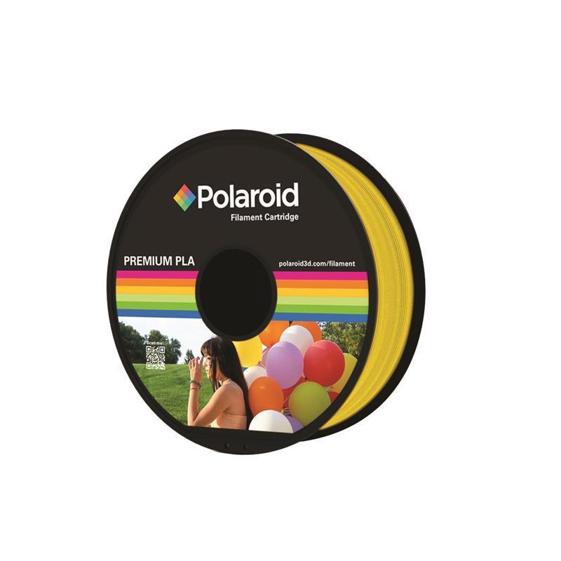 Катушка с нитью 1.75мм/1кг PLA Polaroid для 3D принтера, прозрачный желтый