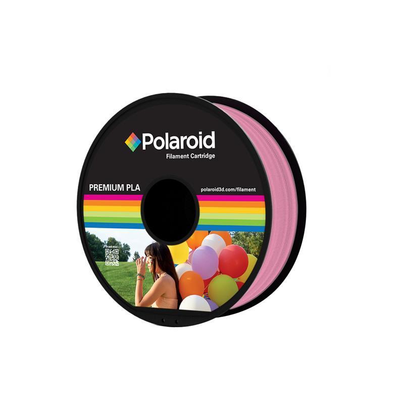 Катушка с нитью 1.75мм/1кг PLA Polaroid для 3D принтера, розовый
