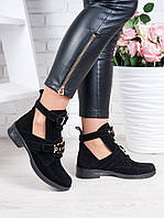 Ботинки Balenciaga черная замша 6320-28