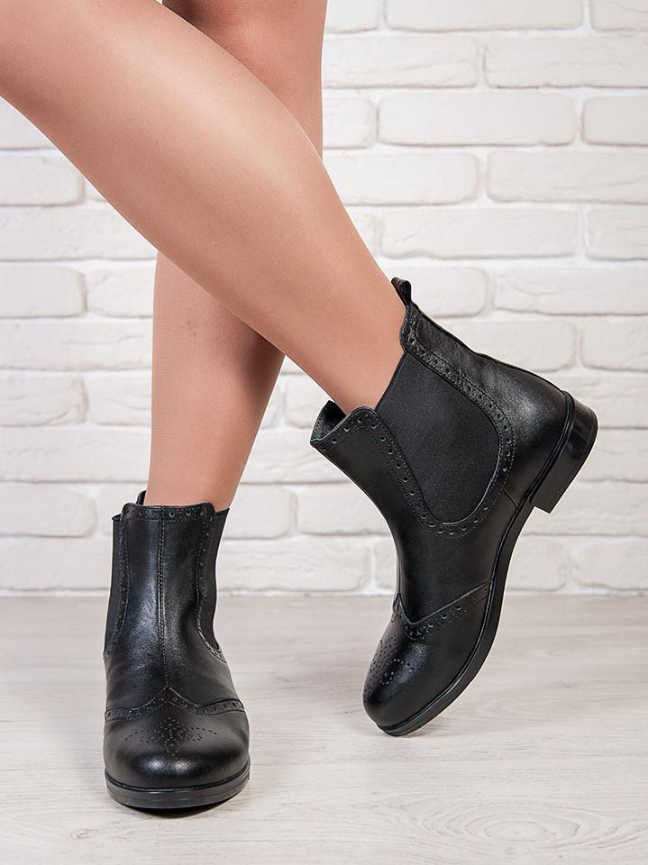 7590b7c94 Ботинки женские из натуральной кожи черного цвета Челси - комфортная  стильная женская обувь - «Оригинальные
