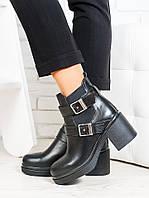 275fbe9a5 Ботильоны из натуральной кожи черного цвета - модная комфортная  качественная женская обувь