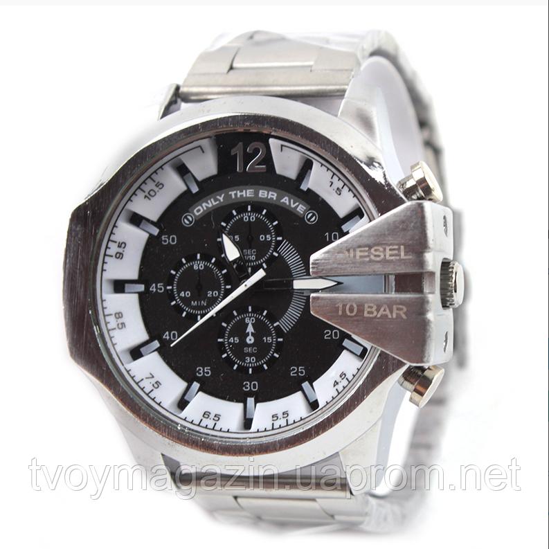 Мужские наручные часы Diesel 10 Bar Серебро Чоловічий наручний годинник