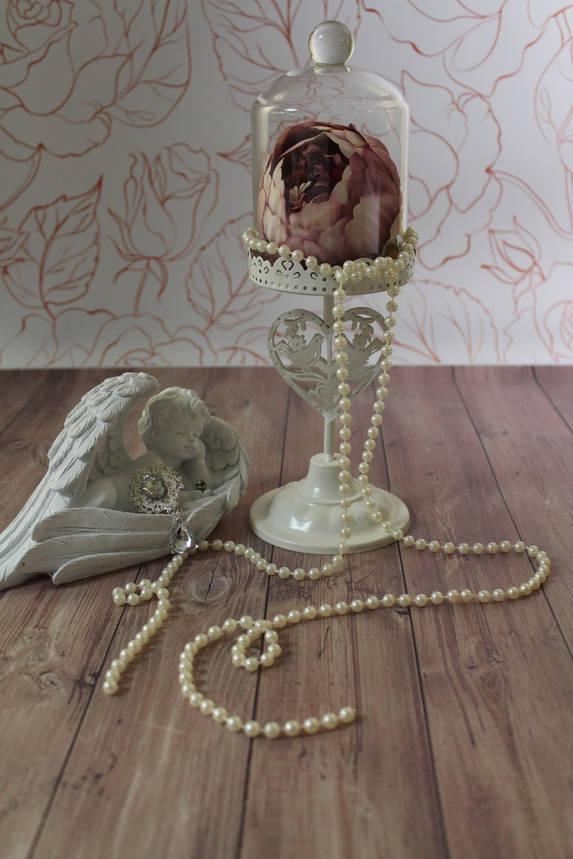 Подсвечник металлический на ажурной ножке, фото 2
