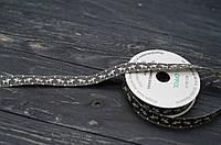 Лента хб с оленями тм. серая 1,5см , фото 1