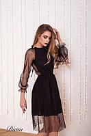 Платье с сеткой сверху и напылением tez14032219