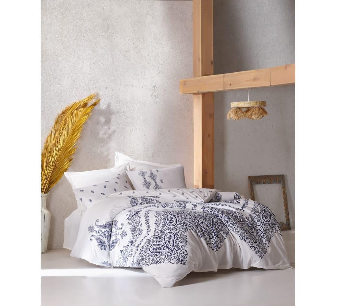Постельное белье Cotton Box BOHEM ADONIS INDIGO двуспальный - евро