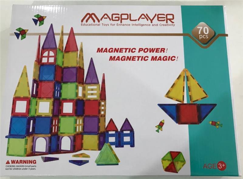 Конструктор Magplayer магнитные плитки 70 эл. MPL-70