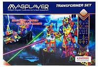 Конструктор Magplayer магнитный набор 208 эл. MPB-208