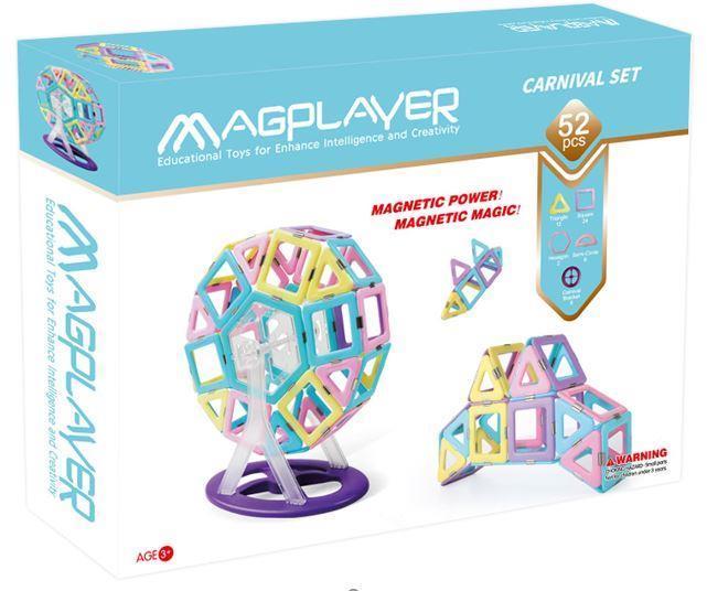 Конструктор Magplayer магнітний набір 52 ел. MPH2-52