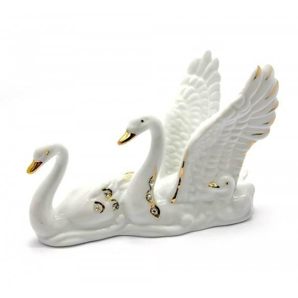 Лебеди фарфор (12,5х9х5 см) ( 25352)