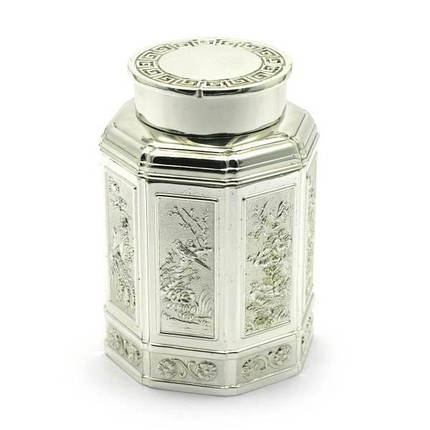 Баночка для чая металл (11х7,5х7,5 см) ( 28015), фото 2