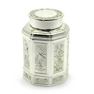 Баночка для чая металл (11х7,5х7,5 см) ( 28015)