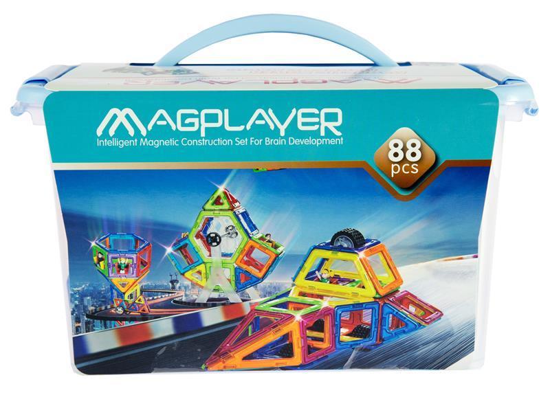 Конструктор Magplayer магнитный набор 88 эл. MPT-88