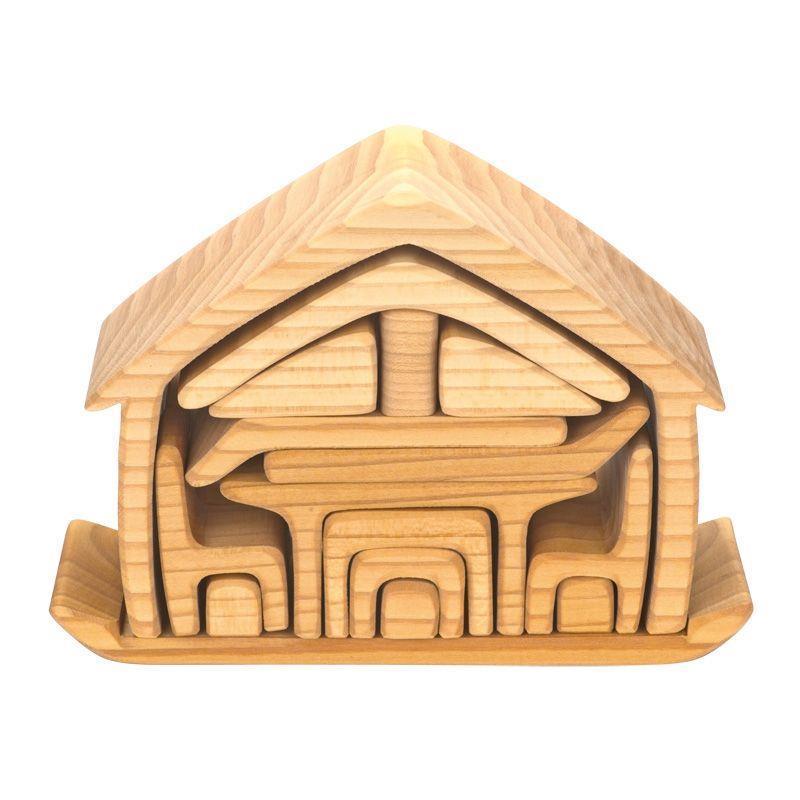 Конструктор nic деревянный Все в доме натуральный NIC523264