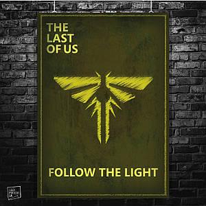 Постер Last Of Us, Последние из нас, Одни из нас. Размер 60x42см (A2). Глянцевая бумага