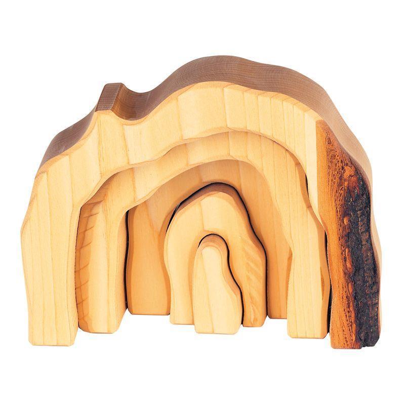 Конструктор nic деревянный Пещера натуральный NIC523322