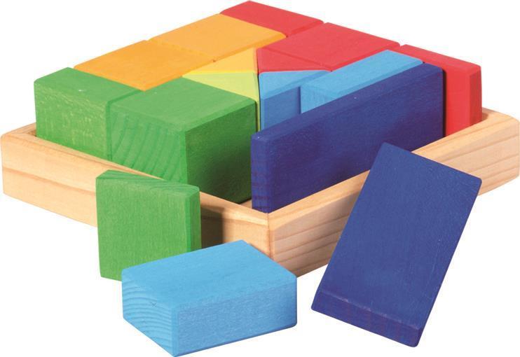 Конструктор nic деревянный Разноцветный квадрат NIC523343