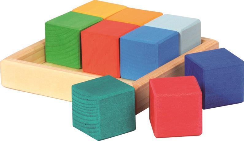 Конструктор nic деревянный Разноцветный кубик NIC523348