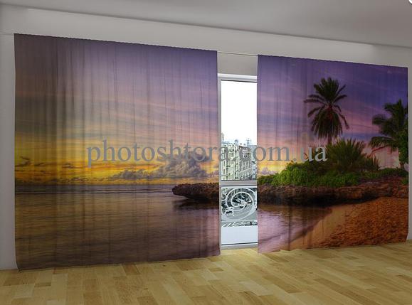 """Панорамная фото штора """"Пляж 3"""" 270 х 500 см, фото 2"""