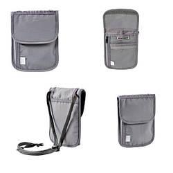 Кошелёк на шею, Wenger Neck Wallet with RFID pocket, серый