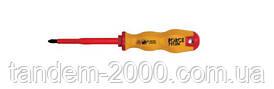 Отвертка крестовая (Philips) диэлектрическая PH.0, L=60 мм 7110NF