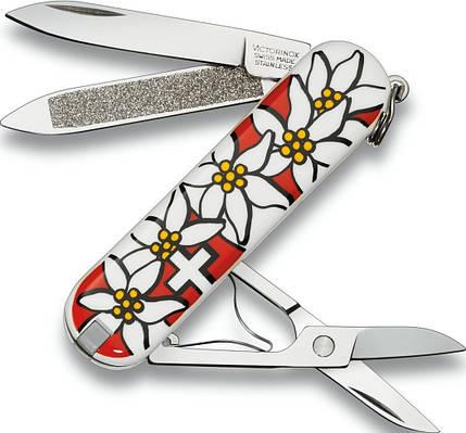 Удобный нож-брилок Victorinox Сlassic 6203.840 эдельвейс