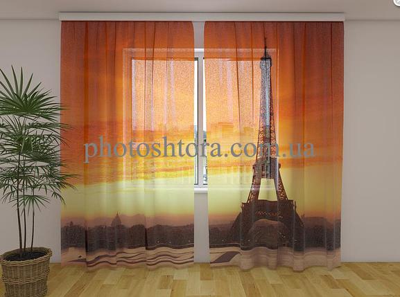 ФотоТюль Эйфелева башня 4 250 см х 260 см фото тюль с рисунком, фото 2