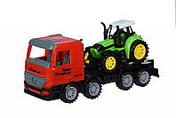 Машинка инерционная Same Toy Super Combination Тягач Красный с трактором 98-84Ut-1