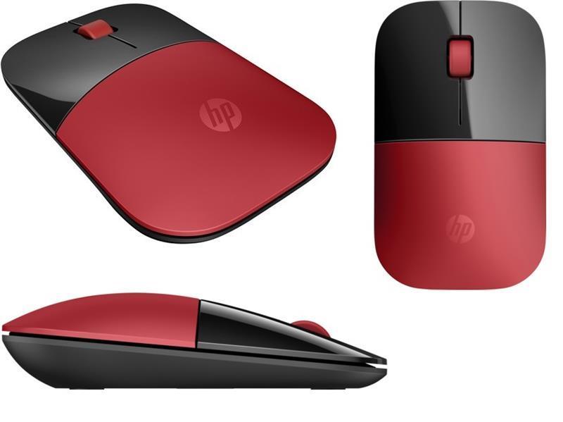 Мышь HP Z3700 WL Cardinal Red