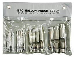 Набор пробойников 15 единиц  (2-22 мм)  Toya 76700