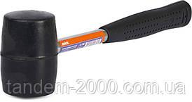 Резиновый молоток с металлической ручкой, 225г (черная резина) Miol  32-700