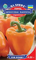 Перец Абрикосовая Фаворитка сорт сладкий среднеспелый урожайный толстостенный, упаковка 0,25 г