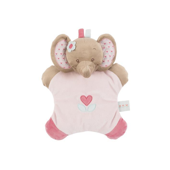 Мягкая игрушка-подушка Nattou слоник Рози 24см 655088