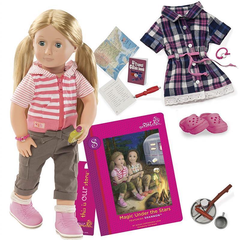 Набор Our Generation DELUXE Кукла Шеннон с книгой «Магия под звездами» BD31026ATZ