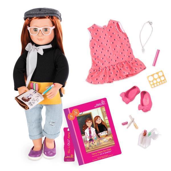Набор Our Generation DELUXE Кукла-двойник Сабина с книгой BD31114ATZ
