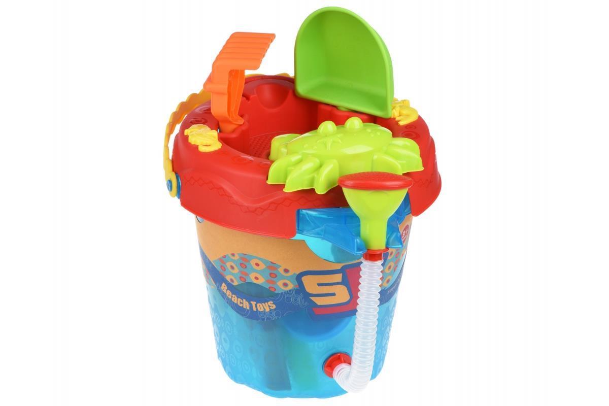 Набор для игры с песком Same Toy 6 ед Ведерко синее 976Ut-2