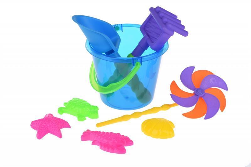 Набор для игры с песком Same Toy с Воздушной вертушкой (синее ведро) 9 шт HY-1206WUt-3
