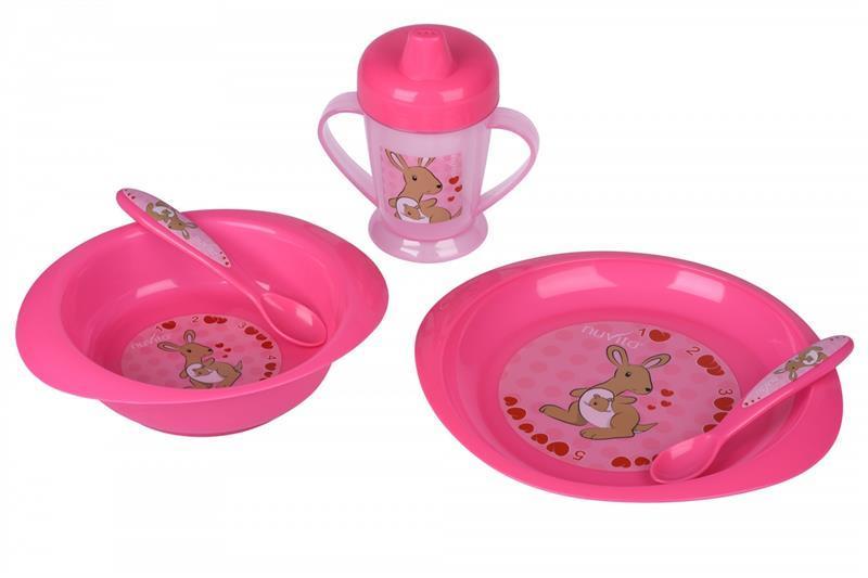 Набор для кормления Nuvita 12м+ Розовый 4 предмета. NV1495Pink