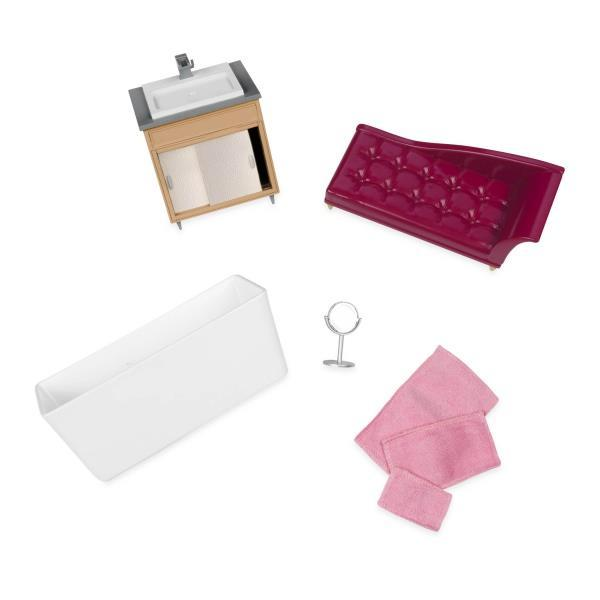 Набор для кукол LORI Мебель для ванной LO37029Z