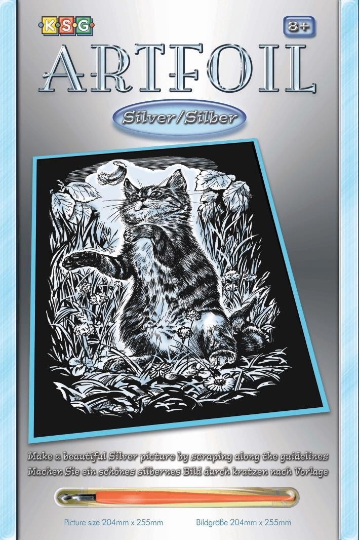 Набор для творчества Sequin Art ARTFOIL SILVER Kitten SA1034