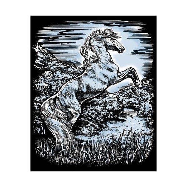 Набор для творчества Sequin Art ARTFOIL SILVER Stallion SA1033